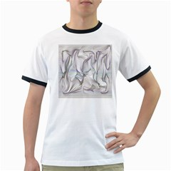 Abstract Background Chromatic Ringer T Shirts