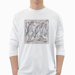 Abstract Background Chromatic White Long Sleeve T Shirts