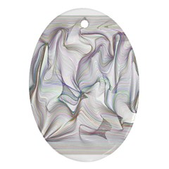 Abstract Background Chromatic Oval Ornament (two Sides)