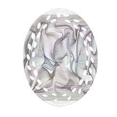Abstract Background Chromatic Ornament (oval Filigree)