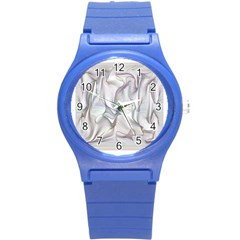 Abstract Background Chromatic Round Plastic Sport Watch (s)