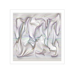 Abstract Background Chromatic Small Satin Scarf (square)