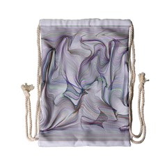 Abstract Background Chromatic Drawstring Bag (small)