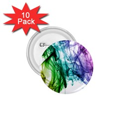 Colour Smoke Rainbow Color Design 1 75  Buttons (10 Pack)