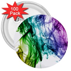 Colour Smoke Rainbow Color Design 3  Buttons (100 Pack)