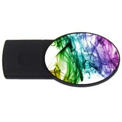 Colour Smoke Rainbow Color Design Usb Flash Drive Oval (2 Gb)