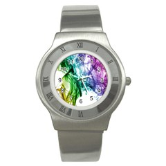 Colour Smoke Rainbow Color Design Stainless Steel Watch