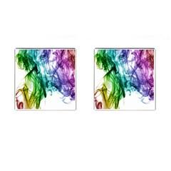 Colour Smoke Rainbow Color Design Cufflinks (square)