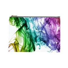 Colour Smoke Rainbow Color Design Cosmetic Bag (large)