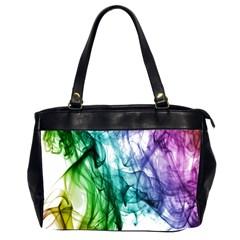 Colour Smoke Rainbow Color Design Office Handbags (2 Sides)