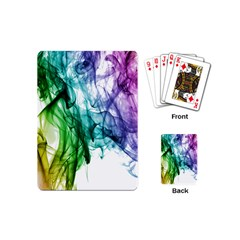 Colour Smoke Rainbow Color Design Playing Cards (mini)