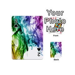Colour Smoke Rainbow Color Design Playing Cards 54 (mini)