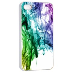 Colour Smoke Rainbow Color Design Apple Iphone 4/4s Seamless Case (white)