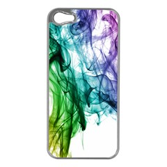Colour Smoke Rainbow Color Design Apple Iphone 5 Case (silver)