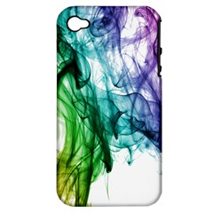 Colour Smoke Rainbow Color Design Apple iPhone 4/4S Hardshell Case (PC+Silicone)