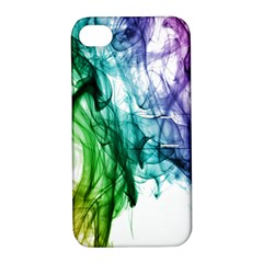 Colour Smoke Rainbow Color Design Apple iPhone 4/4S Hardshell Case with Stand