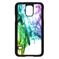 Colour Smoke Rainbow Color Design Samsung Galaxy S5 Case (black)