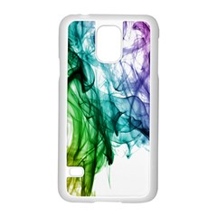 Colour Smoke Rainbow Color Design Samsung Galaxy S5 Case (white)