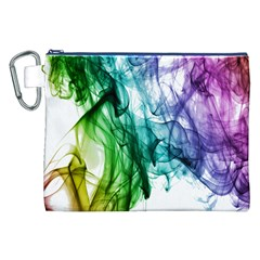 Colour Smoke Rainbow Color Design Canvas Cosmetic Bag (xxl)