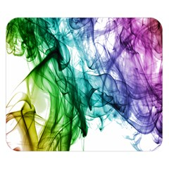 Colour Smoke Rainbow Color Design Double Sided Flano Blanket (small)
