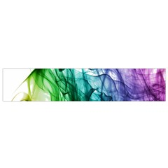 Colour Smoke Rainbow Color Design Flano Scarf (Small)
