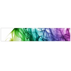 Colour Smoke Rainbow Color Design Flano Scarf (large)