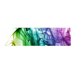 Colour Smoke Rainbow Color Design Satin Scarf (oblong)