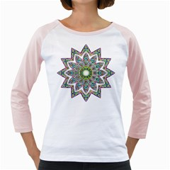 Decorative Ornamental Design Girly Raglans