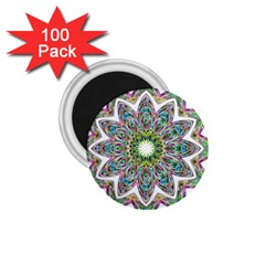 Decorative Ornamental Design 1 75  Magnets (100 Pack)