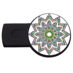 Decorative Ornamental Design Usb Flash Drive Round (4 Gb)