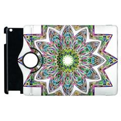 Decorative Ornamental Design Apple Ipad 3/4 Flip 360 Case