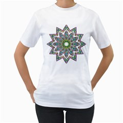 Decorative Ornamental Design Women s T Shirt (white)