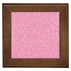 Handwriting  Framed Tiles