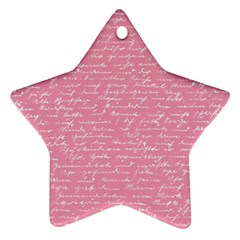 Handwriting  Star Ornament (Two Sides)