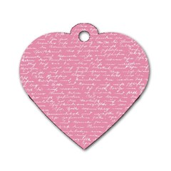 Handwriting  Dog Tag Heart (One Side)