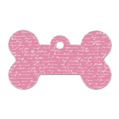 Handwriting  Dog Tag Bone (Two Sides)