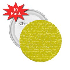Handwriting  2.25  Buttons (10 pack)