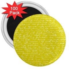 Handwriting  3  Magnets (100 pack)