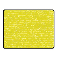 Handwriting  Fleece Blanket (Small)
