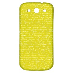 Handwriting  Samsung Galaxy S3 S III Classic Hardshell Back Case