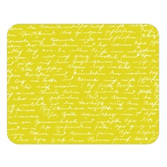 Handwriting  Double Sided Flano Blanket (Large)