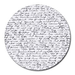 Handwriting  Round Mousepads