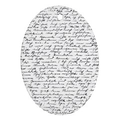 Handwriting  Ornament (Oval)