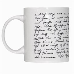 Handwriting  White Mugs