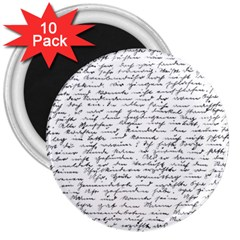 Handwriting  3  Magnets (10 pack)