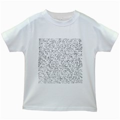 Handwriting  Kids White T-Shirts