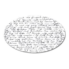 Handwriting  Oval Magnet