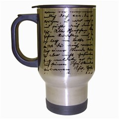 Handwriting  Travel Mug (Silver Gray)
