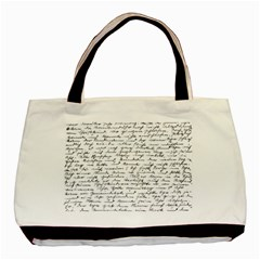 Handwriting  Basic Tote Bag (Two Sides)