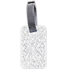 Handwriting  Luggage Tags (One Side)